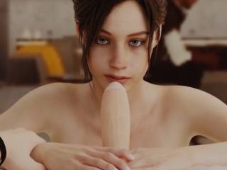 Claire Redfield suce dans Resident Evil 2 Remake hentai